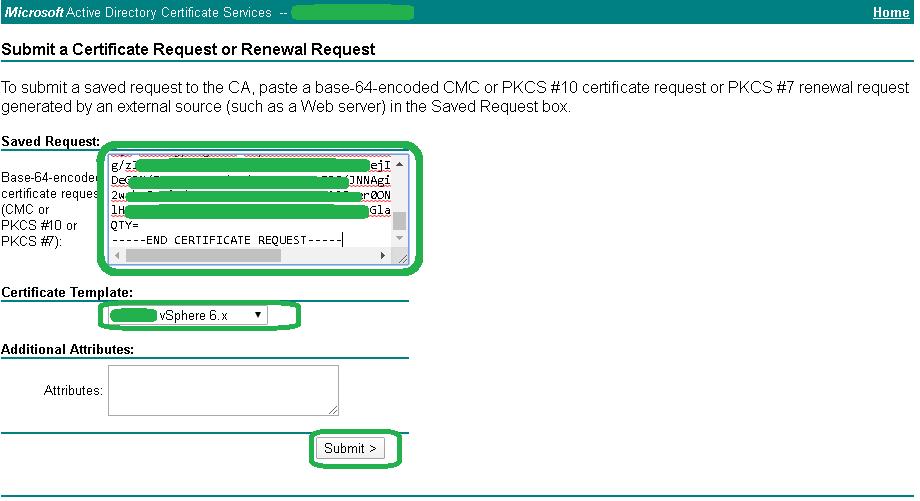 Microsoft CA - Generate Certificate 3