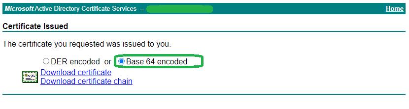 Microsoft CA - Generate Certificate 4