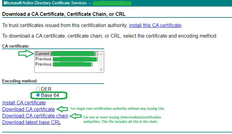 Microsoft CA - Generate Certificate 5