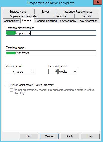 Easily Replace vSphere Web Certificate - Microsoft CA - vSphere Template Name