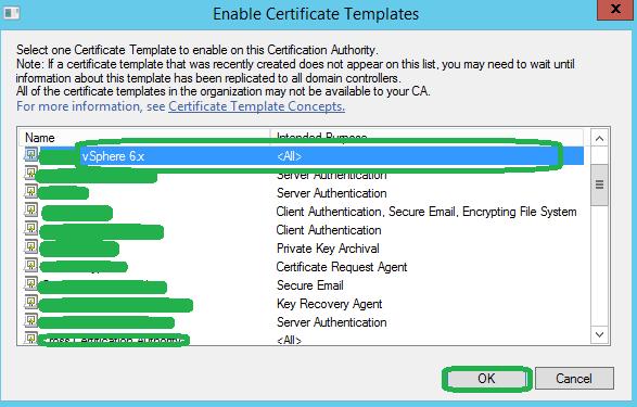 Easily Replace vSphere Web Certificate - Microsoft CA - vSphere Template Publish 2