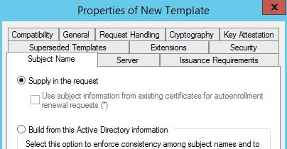 Easily Replace vSphere Web Certificate - Microsoft CA - vSphere Template Subject